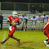 Fitchburg High School played Shrewsbury High School on Friday night in Fitchburg. FHS players Mike Duprey and Gaston Pastorino tackle SHS Jakob McVane. FHS QB Darius Flowers looks down field for an open receiver. SENTINEL & ENTERPRISE/ JOHN LOVE