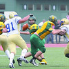 Fitchburg State Football team played Worcester State on Saturday at home. FSU QB Garrett Dellechiaie looks for an open receiver. SENTINEL & ENTERPRISE/ JOHN LOVE
