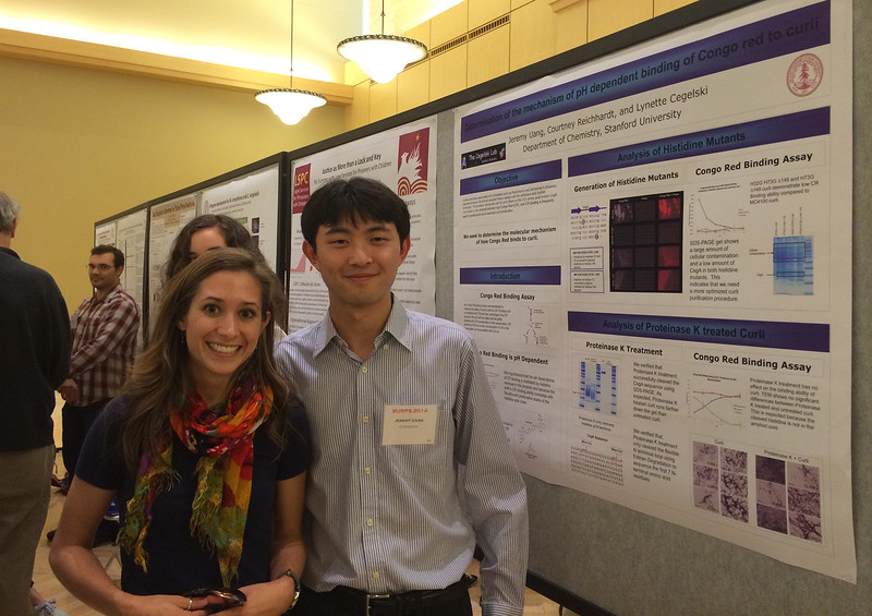 Jeremy and Courtney at the Undergraduate Research Symposium<br /> October 23, 2014