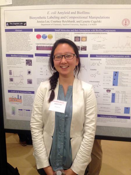 Jessica at the Undergraduate Research Symposium<br /> October 2013