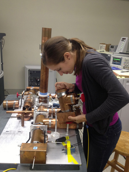 Courtney finds a loose part in the HFCN Probe -- better fix that!<br /> September 2013
