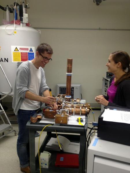 Joe and Courtney tune up the HFCN Probe.<br /> September 2013