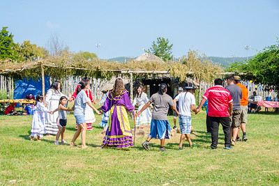 Social dancing in the village