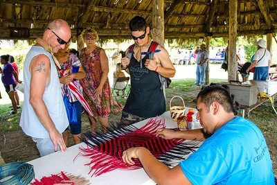 Brenner Billy provides information on Choctaw basket weaving.
