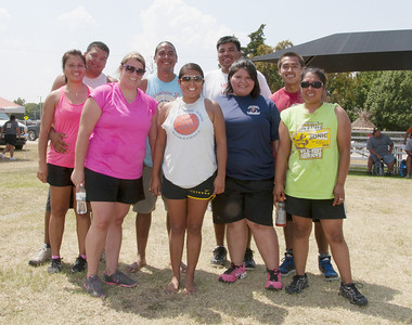 Volleyball 2nd place - The Crew Mike Scott, Felicia Scott, Thomas Hardy, Sarah Trusty, Taloa Camp, Joe Anderson, Kelley Braudrick, Amber Anderson and Rayburn Baker.