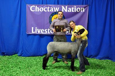 Brooklyn Hermiman of Muskogee wins Market Lamb Junior Showman Champion