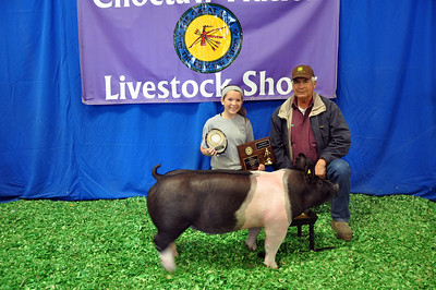 Jaycee Cox of Spiro 4-H wins 3rd Overall and Junior Showmanship Champion