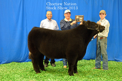 Trent Kitchell of Hartshorne 4-H wins English Steer Reserve Breed Champion