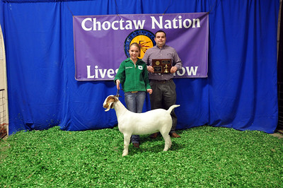 Adrianna Curnutt of Wister FFA wins Senior Showman Champion