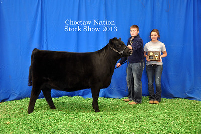 Dalton Cantrell-Shelton of Checotah FFA wins English Heifer Reserve Breed Champion