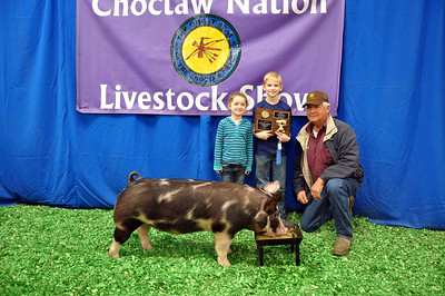 Noah Palmer of McCuratian County 4-H wins Berkshire Breed Champion
