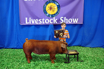 Faith Palmer of McCurtain County 4-H wins Duroc Breed Champion
