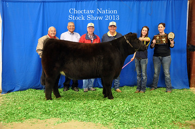 Kylie Powell of Porum FFA wins Heifer Breed Champion and Third Overall