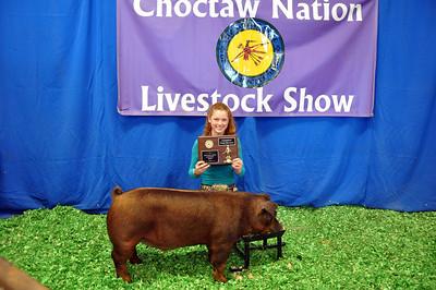 Hannah Palmer of McCurtain County 4-H wins Senior Showman Champion