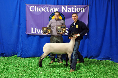 Ross Turner of Holdenville FFA wins Market Lamb Reserve Grand Champion and Division Champion