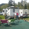 Early campers enjoying the sun at the Orting VFW campout.