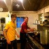 NorCal Intern, Alberto and Terry Curley making it happen preparing a special pasta dish for the coaches! Spicy!!!