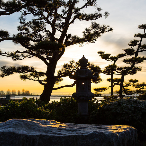 Sunrise at the Kuno Garden in Garry Point Park.