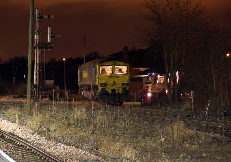 66526 is seen again whilst the fueling process is going on in the Cattle Warf at Barnetby