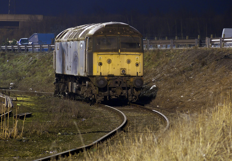 Will this loco turn a wheel anger again? 47816 is seen in a poor state in the shunt neck at basford hall.