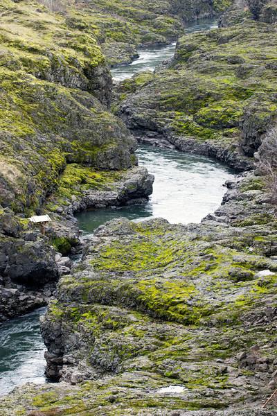 Klickitat River Gorge Below Bridge
