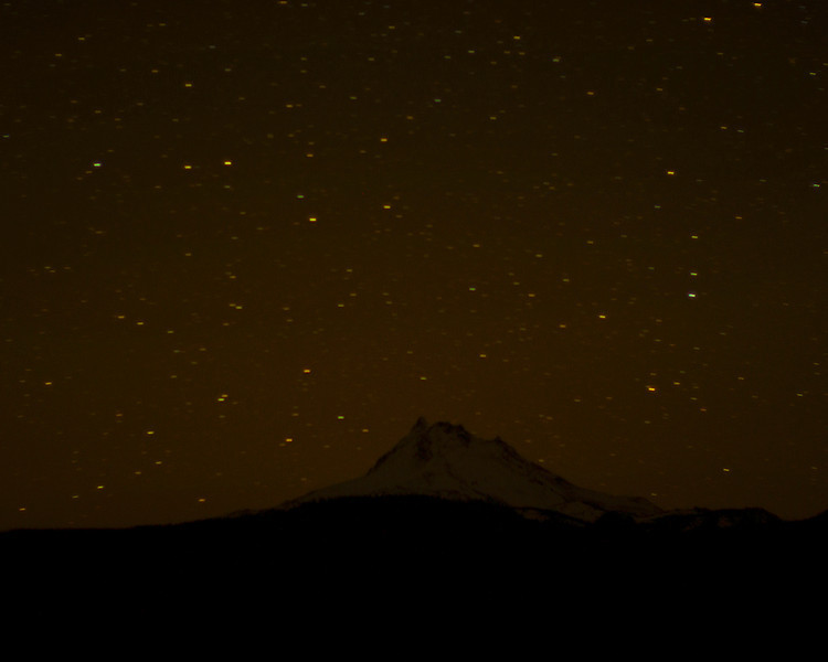 Mt Jefferson on a Dark Night