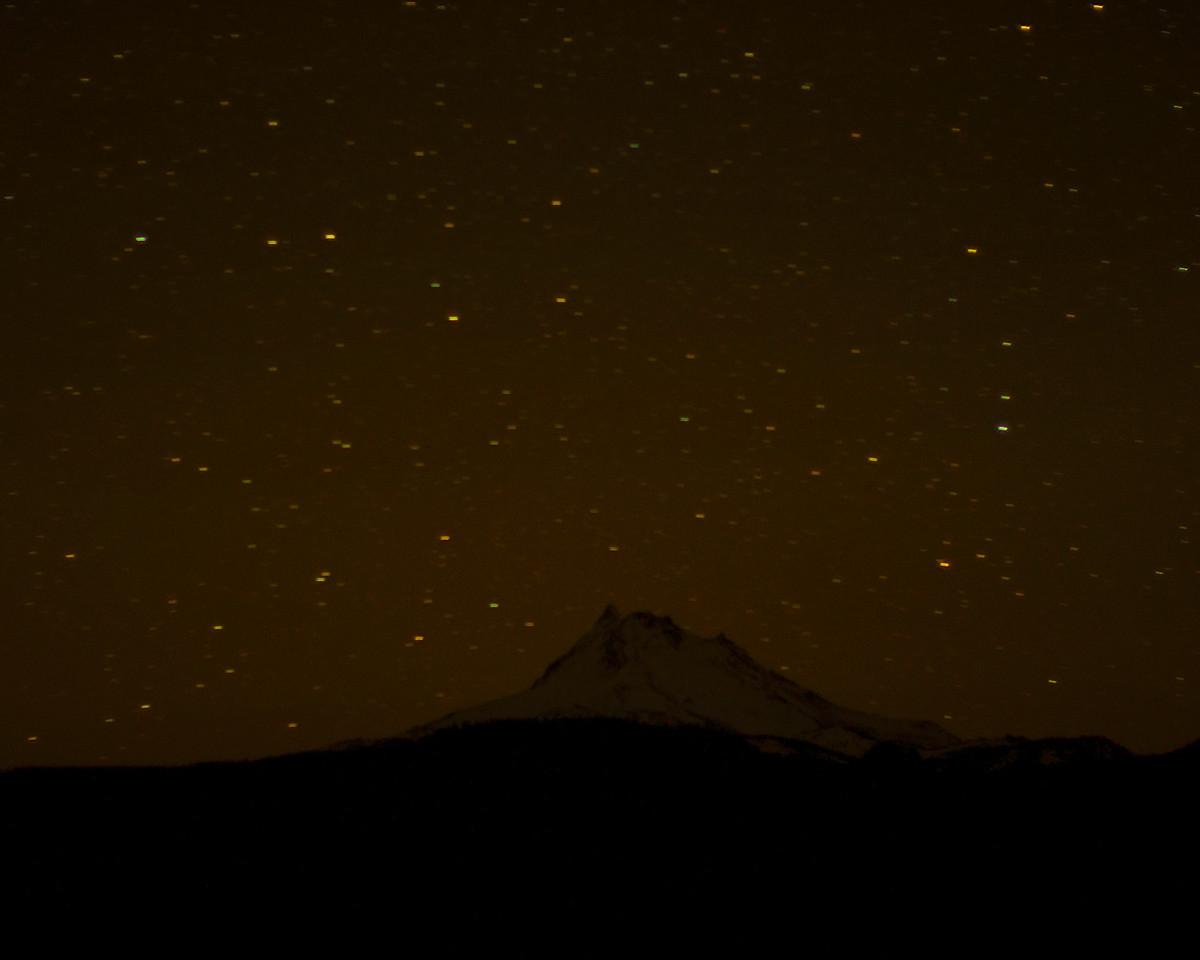 Mt Jefferson on a Dark Night