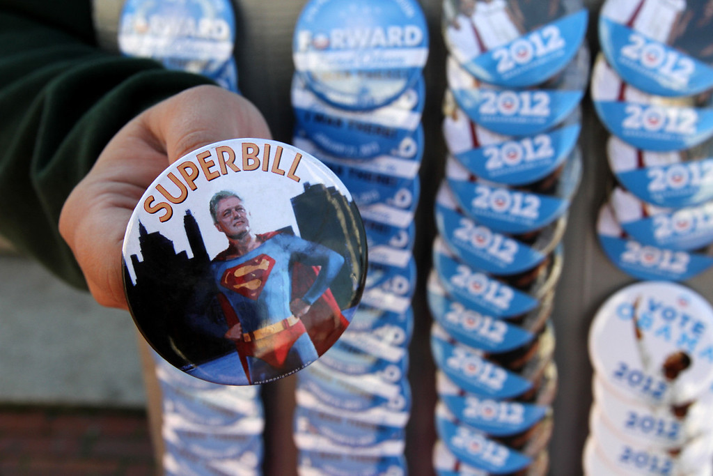 Unofficial President Obama memorabilia, and even President Clinton items, is on sale throughout Washington, D.C. on Sunday January 20 the day before Obama is inaugurated for the second and final time. (Michael Cummo/ BU News)