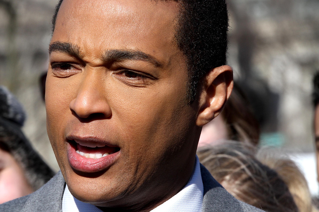 January 20, 2012 - CNN news anchor Don Lemon delivers a stand-up segment on the National Mall in Washington on the day before the 57th Presidential Inauguration. Photo by Billie Weiss.