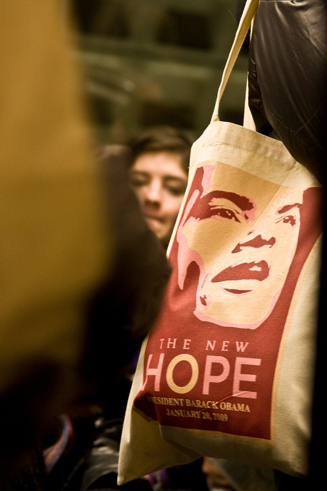 January 19, 2009 - A commemorative bag is shown in Washington, D.C. the day before the Inauguration of President Barack Obama. Photo by Billie Weiss.