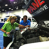Fueling Texas volunteers at the Police Fleet Expo Southwest in Fort Worth, May 24, 2013.