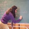 Michelle Prysby teaches class