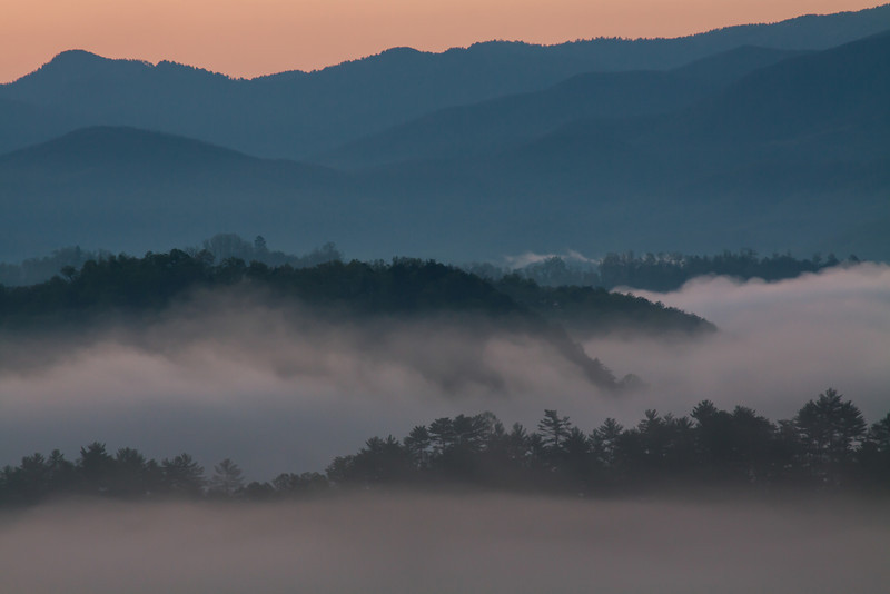 April 20.  Before sunrise at the Foothills Parkway overlook.