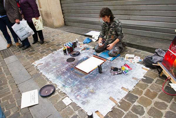 Street painter.