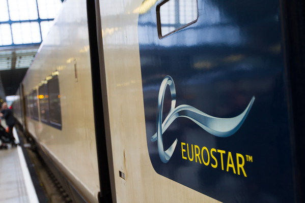 Eurostar trains are... dirty on the outside.