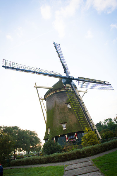 A windmill that we visited by and took pictures on our way out of Amsterdam.