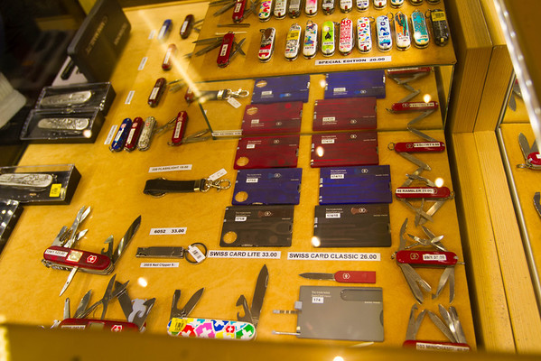 At one of the souviner shops in Zurich. It was a Werner/Victorinox palooza.