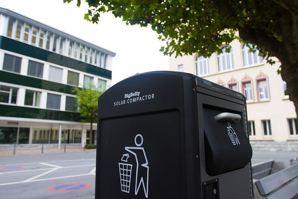 Liechtenstein (Vadus) Solar Compactors - I think I've seen this somewhere else in America but cannot remember - maybe at Disneyland/world?