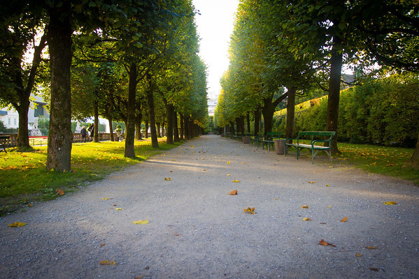Salzburg Mirabell Gardens (where The Sound of Music was filmed) - One of the stretches of path that was used in the film