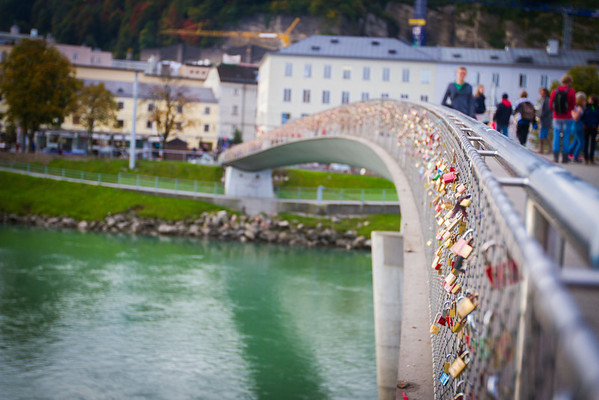 Salzburg City Tour - This bridge crossing has thousands of locks attached to it from visitors and residents alike.