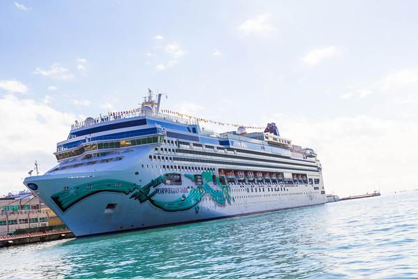 No biggie, just a 93.6 kiloton cruise ship chilling.