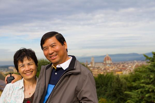 Duomo/Santa Croce Church in the background