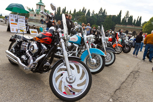 More motorcycles.