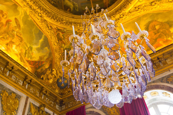 Versailles Palace - one of the two original lead glass crystal chandeliers.