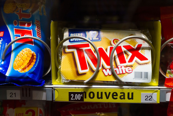 9/20/2013: I didn't actually buy this to check it out, but I assume white chocolate Twix? Am not sure if that's any good.