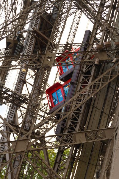 9/20/2013: Eiffel Tower - the inclined elevators.
