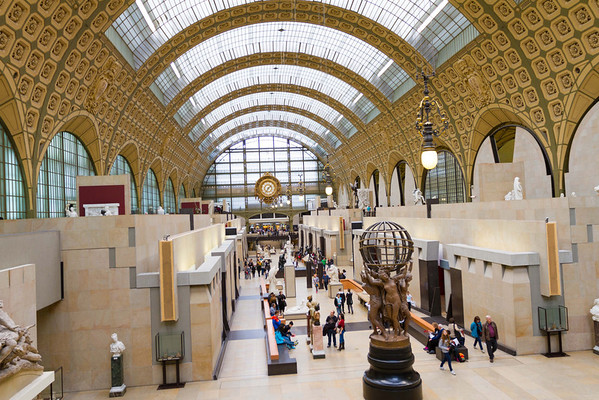 9/20/2013: Musee d'Orsay. This museum used to be a train station. And now it's a museum. Is like a smaller, more manageable version of the Louvre.