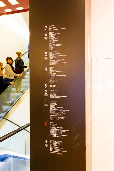 9/20/2013: La'Fayette - Paris' biggest mall. 7 floors for women, 3 for men.