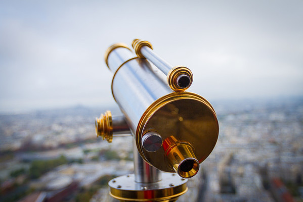 9/20/2013: Eiffel Tower  - You gotta pay 1 Euro to use this telescope on the tower.