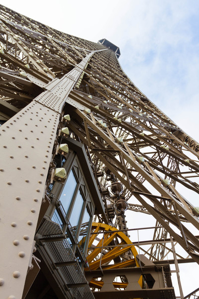 9/20/2013: Eiffel Tower - The summit looks pretty high up, even from level 1